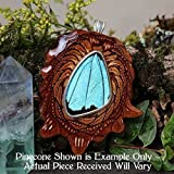 Blue Morpho Butterfly Wing Third Eye Pinecone Pendant