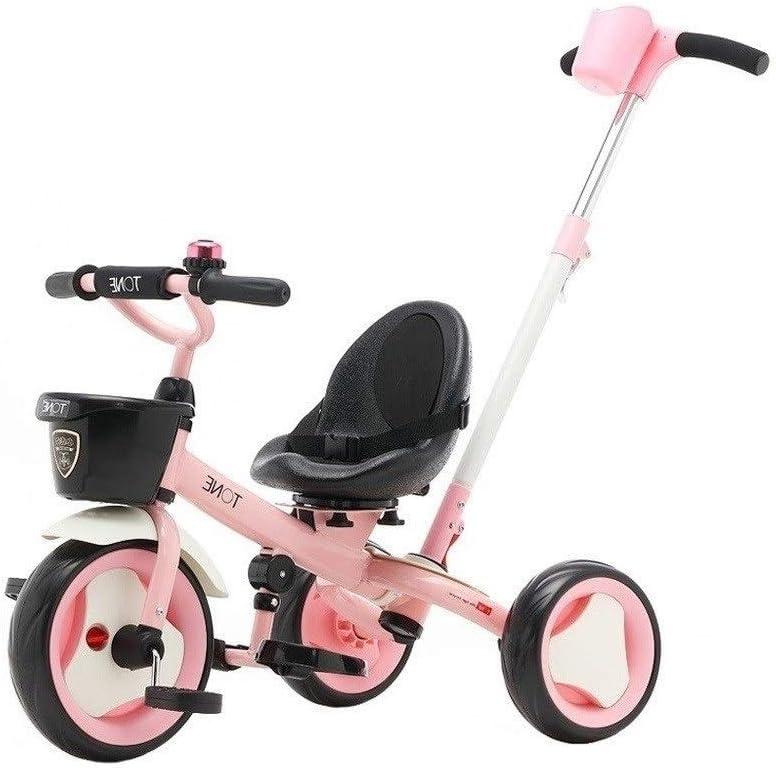 xy Triciclos Triciclo del Bebé Niños De Bici Ciclo De Niño Pequeño Niño 3 En 1 Triciclos Trike Empujar La Manija Grow-Head con Altura Ajustable De Empuje Paseo En Triciclo R