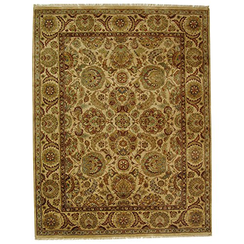 Safavieh Dynasty Collection DY251A Hand-Knotted Ivory Premium Wool Area Rug (6' x 9')