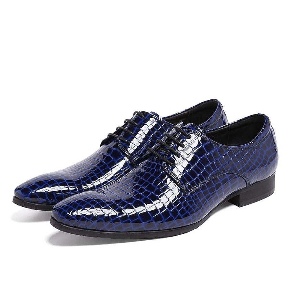 Herrenschuhe Neue Kleid Schuhe Mode Hochzeit Schuhe Rot und Blau