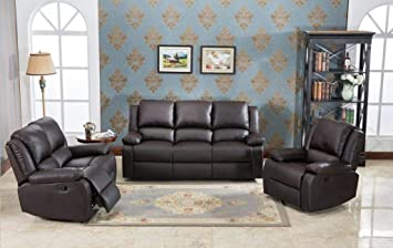 Oxford Reclining Sofa Suite 3 2 Or 3 1 1 Faux Leather Recliner Sofa