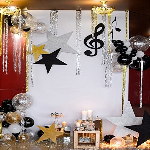 LFEEY 6x6ft Kids Baby Birthday Party Background Music Holiday Balloons Stars Decorations Wedding Events Christmas Year Celebration Photography Backdrop Wallpaper Studio Prop]()