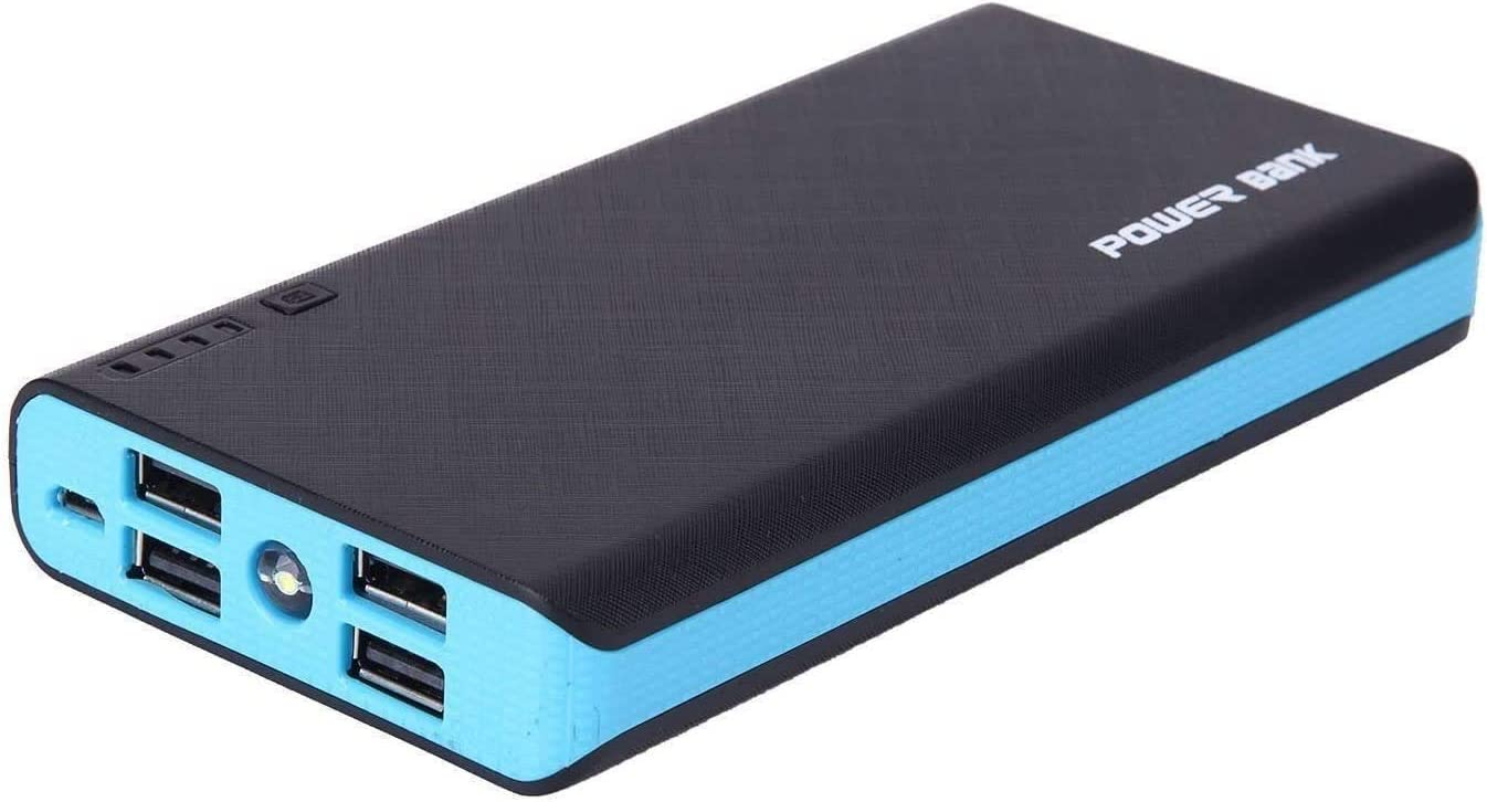 4 USB 50000mAh Power Bank LED External Backup Battery Charger F Phone Blue