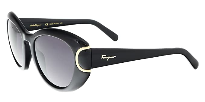 19e63a56520 Image Unavailable. Image not available for. Color  Salvatore Ferragamo  Sunglasses SF818S 001 BLACK Butterfly 54x21x140