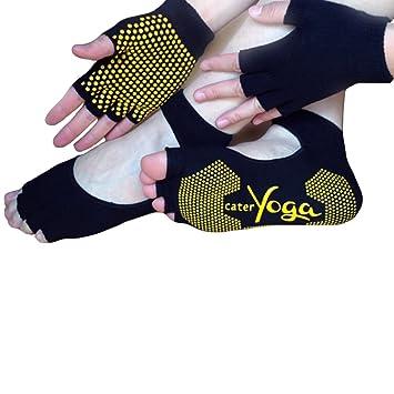 Amazon.com: saymequeen Guantes de fitness ejercicio yoga ...