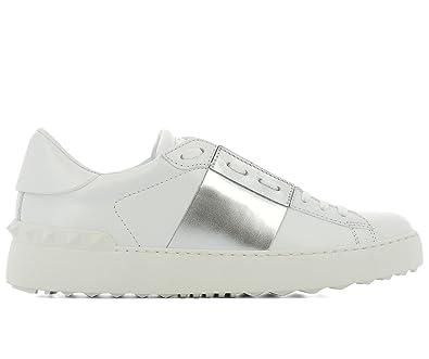 70a6e5466197b VALENTINO GARAVANI Women's Trainers White Bianco + Argento White Size: 5
