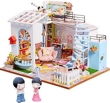 GMDRNC Muebles De Casa De Muñecas Miniatura Casa De Muñecas Casa De Miniaturas Caja De Habitación Teatro Juguetes Pegatinas Casa De Muñecas: Amazon.es: Bricolaje y herramientas