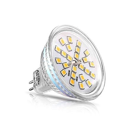 Cenicero 5 Pack MR16 GU5.3 LED Lámpara, 400 lúmenes, recambio para halógeno de 50 W ...