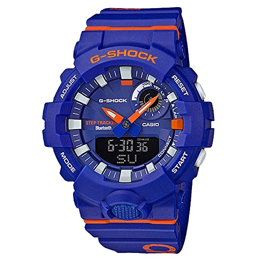 G-SHOCK Analog-Digital Step Tracker Blue Dial Mens Watch GBA800DG-2A