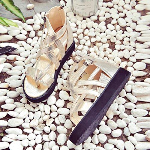 Flip Sandales Vovotrade Bas Lacets à Dames Chaussures Or ✿✿✿Sandales Prix à Chaussures Femme Romaines Flops été pour fzxnPqHwf6