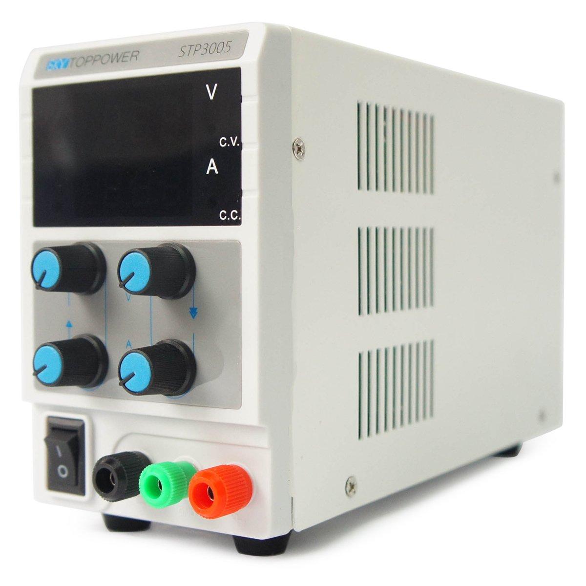 STP3005 30V/5A/150W DC Adjustable Power Supply - White