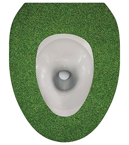 WHAT ON EARTH Toilet Seat Lid Sticker Tattoo - Golf Ball - R