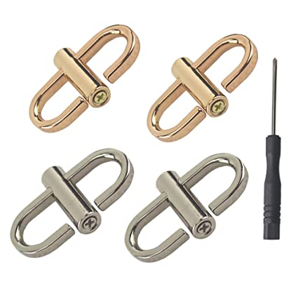 Gold, Silver, Small Adjustable Metal Buckle for Shoulder Chain Strap Women Bag Length Shorten Purse Chain Adjuster Metal Clip Accessories 4pcs