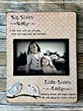 Big Sister Little Sister, Big Sis, Sisters, New baby, Sibling, Picture Frame, Custom, Picture Frame Personalized Sisters Gift Children