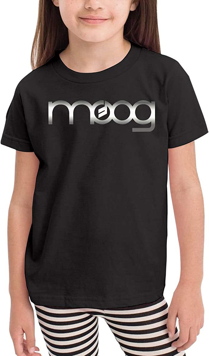 HWDF99DX Moog Synth Comfortable and Lovely Short Sleeves for Children for Children Aged 2-6 Black