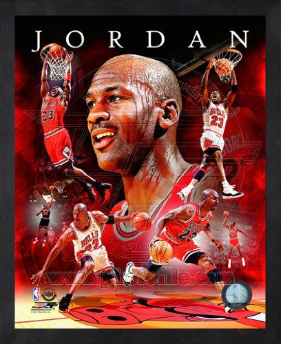 Michael Jordan Chicago Bulls 8x10 NBA Composite Photo in Sports Frame by NBA