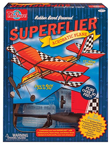 Rubber Band Powered Vehicle (T.S. Shure Rubber Band Powered Super Flier Deluxe Acrobatic Plane Kit)