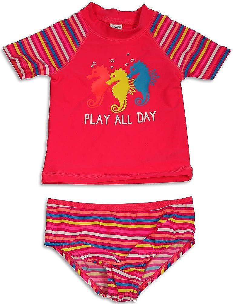Osh Kosh B'gosh - Baby Girls 2 Piece Rashguard Swimsuit Set
