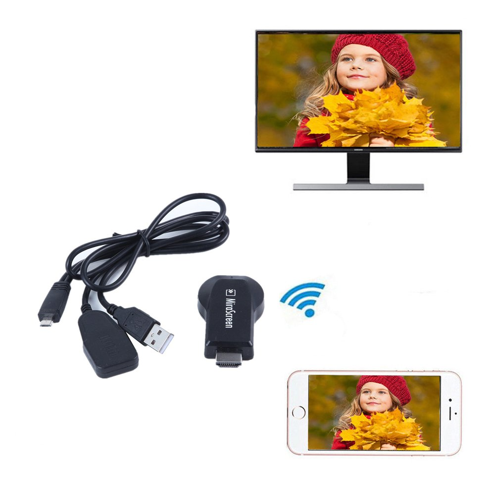 Simply Silver - Adapter Cable Dongle - 1080P HDMI AV Adapter Cable Dongle for connect Samsung Galaxy J7 Prime to HD TV