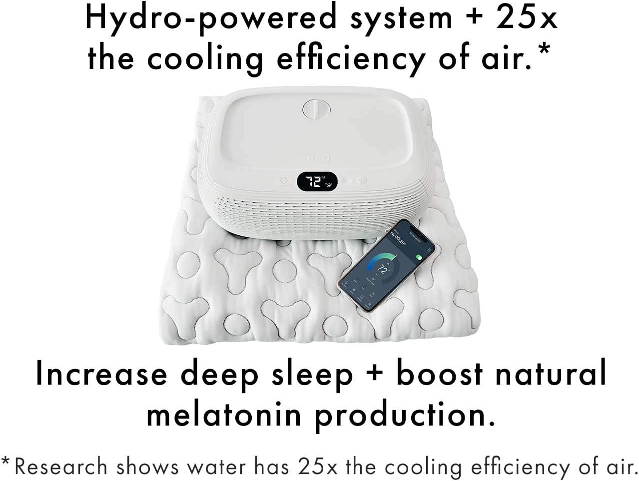 """OOLER Sleep System - ME and WE Zones - Cooling and Heating Mattress Pad - Precise Temperature Control, Perfect Sleep Regulation, App and Sleep Schedule Integration (Half Queen (80"""" L x 30"""" W))"""