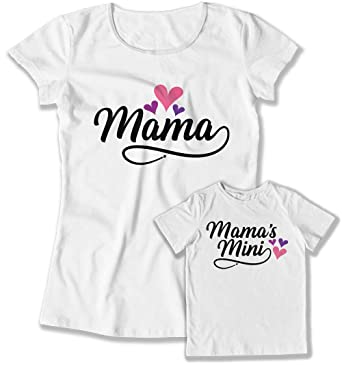 41b44c85 Amazon.com: Matching Mother Daughter Shirts First Mama and Me MOT-36-37:  Clothing