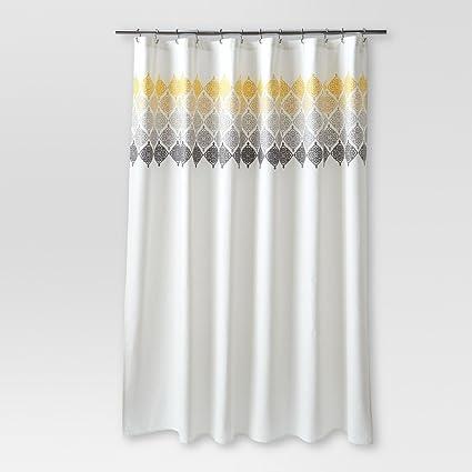 Amazon Com Threshold Medallion Ombre Shower Curtain Cream Home