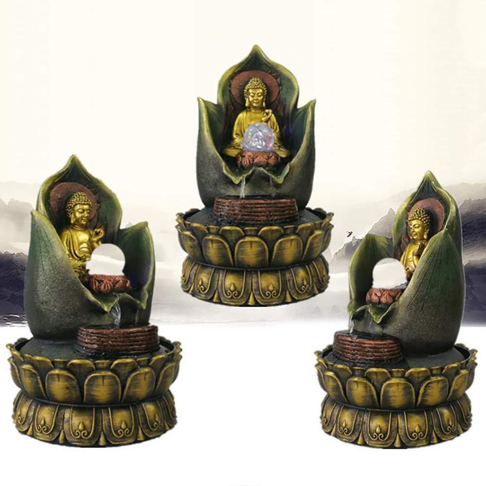 Ideal para Decoraciones caseras ,A Aniversario SFXYJ Fuente Interior Ornamentos en Cascada de la Estatua de Buda 27 * 27 * 40CM cumplea/ños Ideales