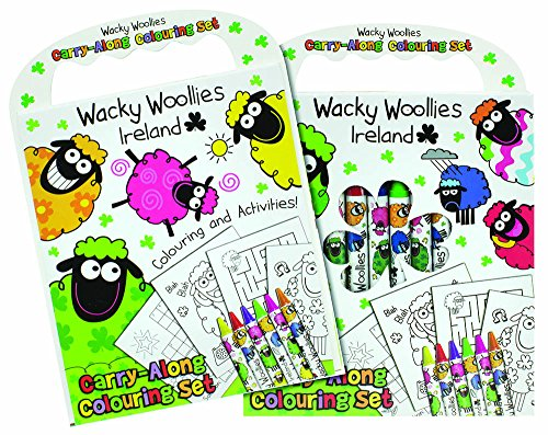 Wacky Woollies Ireland Colouring Set Of Crayons With Colouring Book