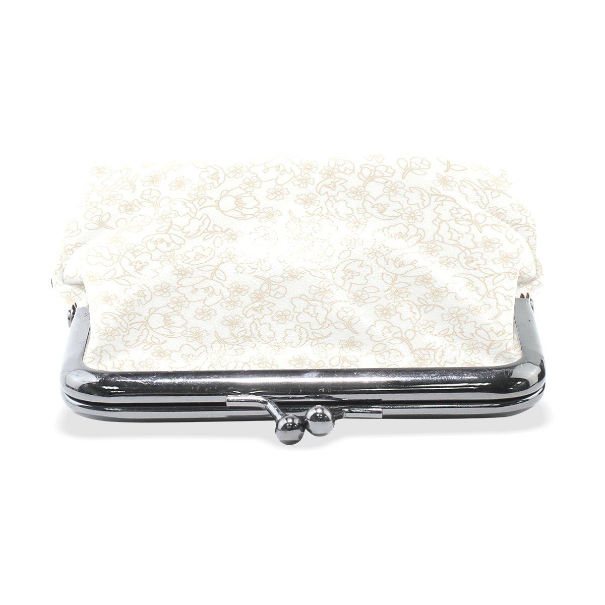 Coin Purse Flower Floral Cloth Wallet Buckle Clutch Handbag For Women Girls Gift