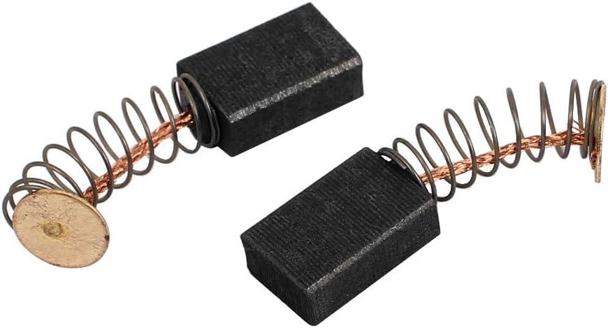 sourcingmap/® 2 pares de Escobilla de carb/ón del motor perforaci/ón el/éctrico giratorio Herramienta el/éctrica de 5 x 9 x 13mm negro