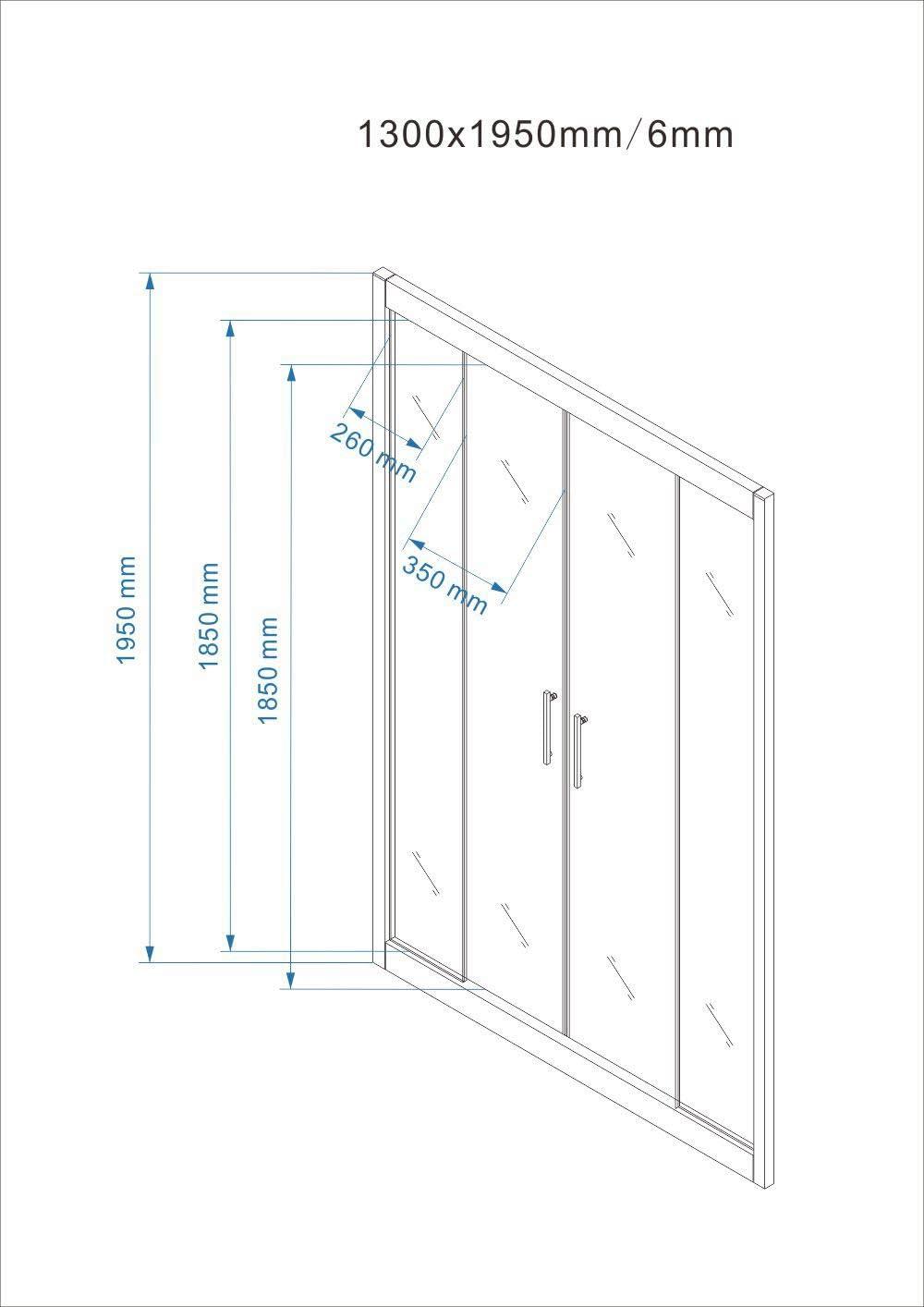 Cabina de ducha/ baño —. Puerta de mampara batiente y reversible ...