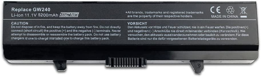 Exxact Parts Solutions Laptop Replacement Battery for Dell Inspiron 1525 1526 1545 1546 GW240 X284G RN873