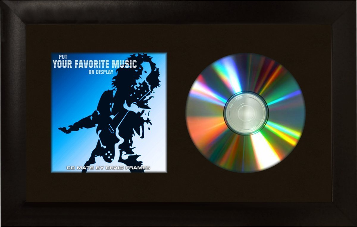 Craig Frames 7x12 Black CD Display Mat Complete w/ 1 Wide Black Frame (CD1WB3BK) by Craig Frames Inc. B005GQMV7Sブラック 7 x 12