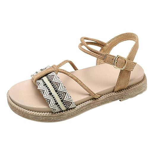 22b0f85f5 {Minikoad}Women Flat Beach Sandals,Ladies Bohemia Sexy Fashion Shoes (US: