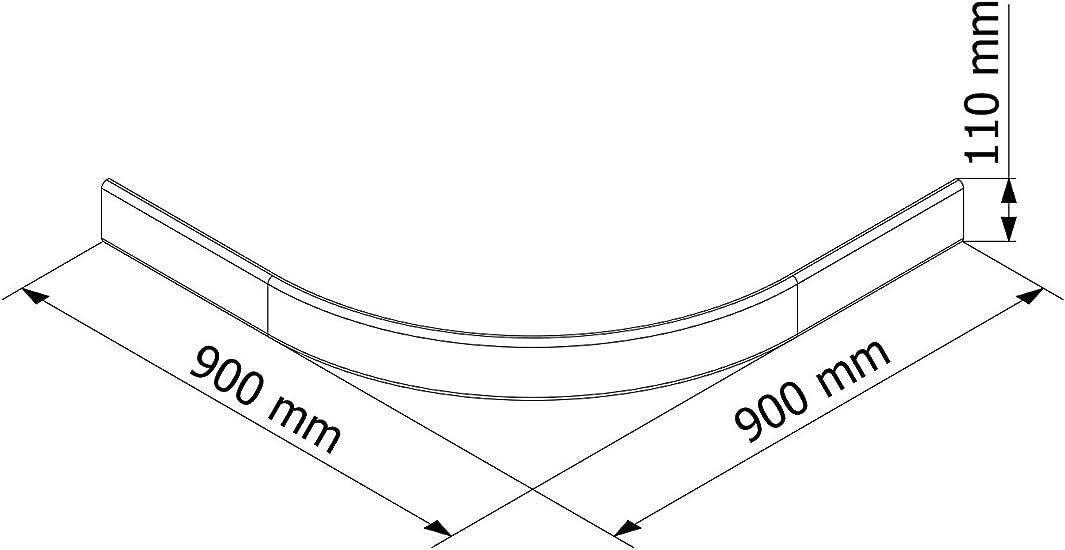 Schulte Delantal para ducha Platillos extra plano 90 x 90 cm sanitaria de acrílico Radius 550 Catania, 1 pieza, color blanco, 4056397003052: Amazon.es: Bricolaje y herramientas