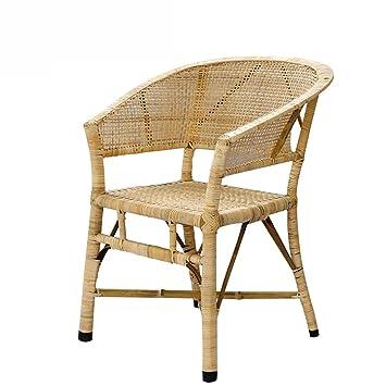 Gaiqin Fuerte y Duradero Silla de Mimbre de bambú - Silla ...