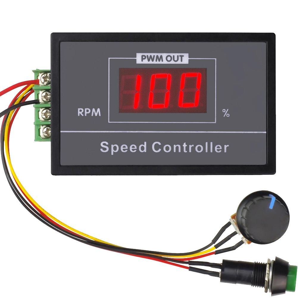 unquiegoods 6V 12V 24V 48V 30A DC Motor Speed control (PWM) Motor Speed Regulator with Adjustable Stepless Switch