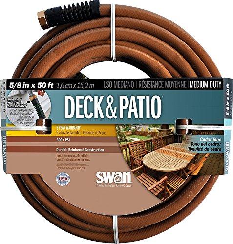Cedar Hose - Swan Products SN2004050 Medium Duty Deck and Patio Garden Hose 50 ft, 5/8