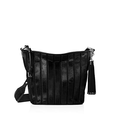 5068a4ef3c12 Image Unavailable. Image not available for. Color: MICHAEL Michael Kors  Womens Brooklyn Leather Shoulder Handbag Black Large