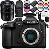 Panasonic Lumix DC-GH5 Mirrorless Micro Four Thirds Digital Camera with Leica DG Vario-Elmarit 12-60mm f/2.8-4 ASPH. POWER O.I.S. Lens 10PC Accessory Bundle – Includes 64GB SD Memory Card + MORE
