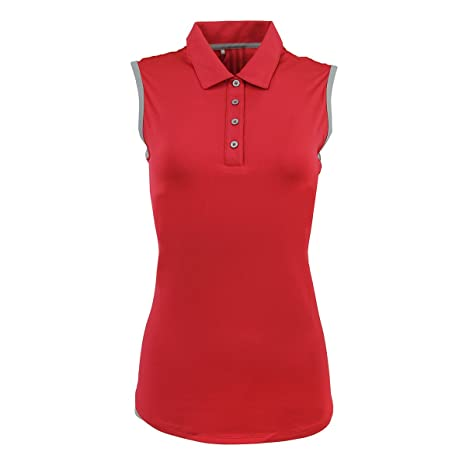 adidas Polo para Mujer, 3stslv Ray Rojo/Mid Grey Heather S: Amazon ...