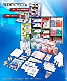 Rapid Care First Aid 91003 4 Shelf First Aid Station Refill Kit For Over 100 people (1033 Piece)