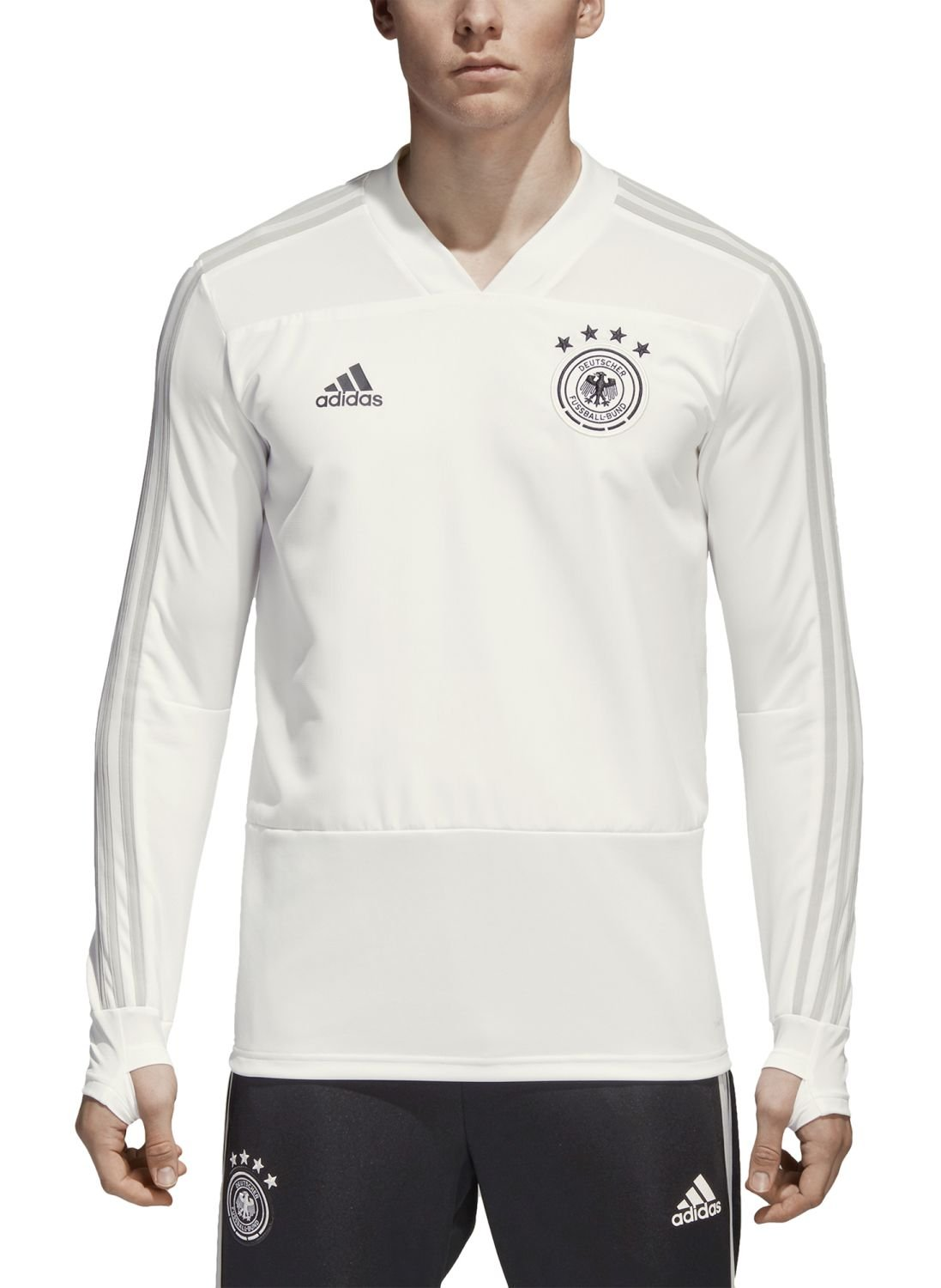 2018-2019 Germany Adidas Training Top (Pure White) B0776FMNHX Medium 38-40