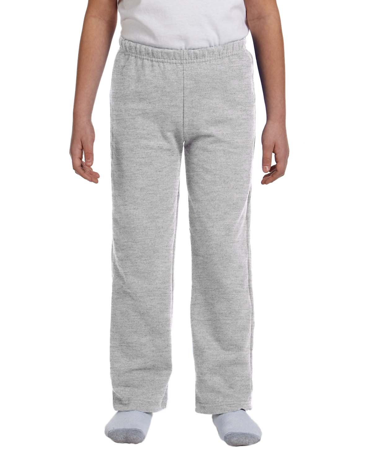 Gildan Boys 7.75 Oz. Heavy Blend 50/50 Sweatpants (G184B) -Sport Grey -L-12PK