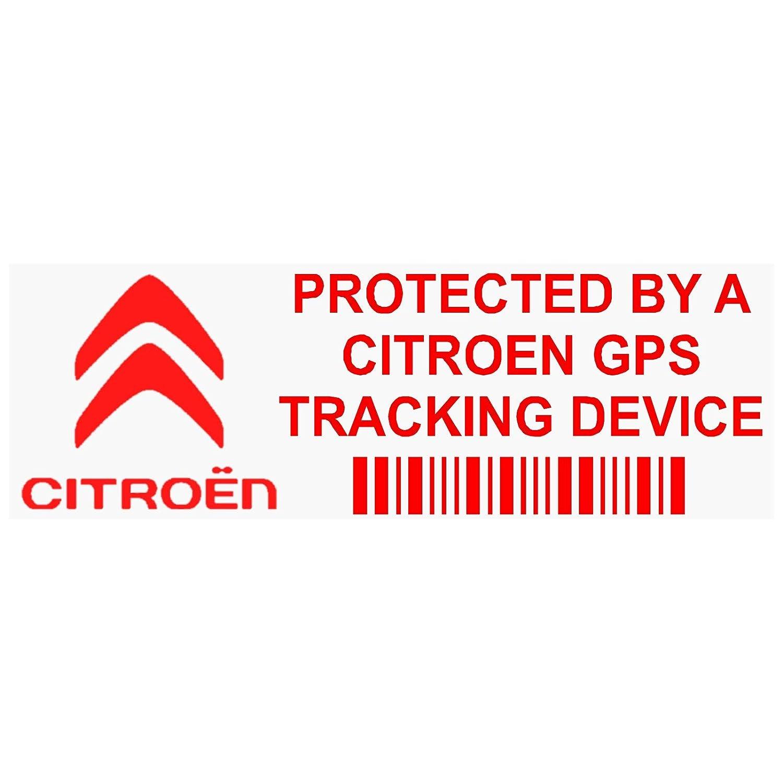 5X Ppcitreongpsred GPS Rouge appareil de suivi Sécurité pour fenêtres Stickers 87x Installed on This Vehicle, van Alarme tracker