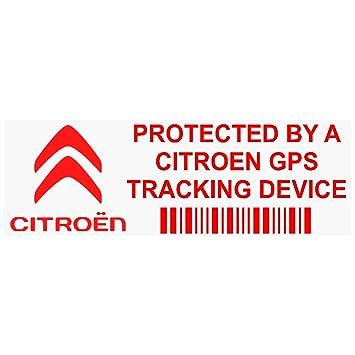 5 x ppcitreongpsred GPS rojo dispositivo de seguimiento de seguridad ventana pegatinas 87 x 30 mm-car, Van alarma Tracker