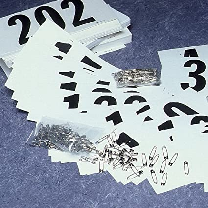 Gill Athletics Competitors Number Paper Tags Set of 100