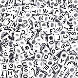 Pandahall 300Pcs Mixed White Acrylic Letter Beads Alphabet Cube Beads 6x6mm DIY Bracelet Beads Makings