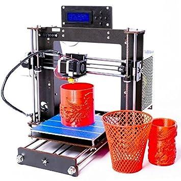 Impresora 3D, ZR-Printing Prusa I3 Pro Alta precisión MK8 Boquilla ...