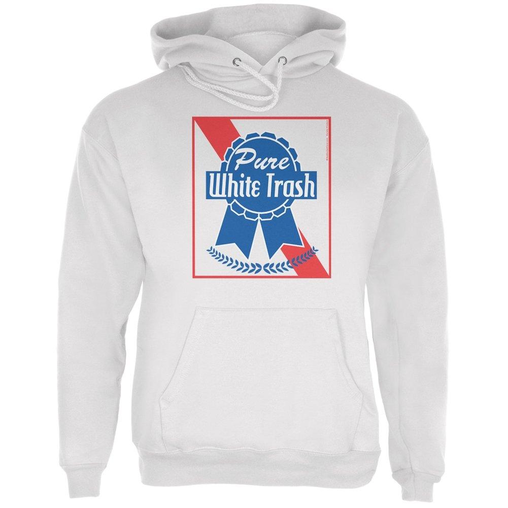 Pure White Trash White Adult Hoodie Tees Plus